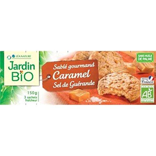 Jardin bio Sablés caramel au sel de guérande bio 150g - ( Prix Unitaire ) - Envoi Rapide Et Soignée