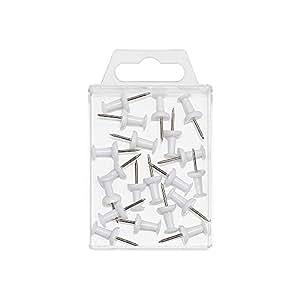 Wedo 54100épingles Diabolo forme de dans une boîte transparente, 20pièces, blanc