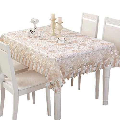 WTY Spitze Tischdecke Bestickt Polyester Handarbeit Spitze Stoff Gehäkelte Muster Tischdecke,85X85(33X33inch) -
