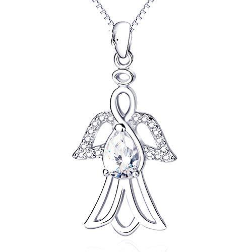 (ccxx Halsketten-Art und Weise Kreatives Tier 925 Sterlingsilber-Schwalbe Hängende Mikro-Verzierte Wilde Dame Ornament,OneColor-OneSize)