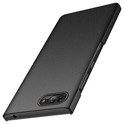 Design Blackberry (anccer BlackBerry Key2 Hülle, [Serie Matte] Elastische Schockabsorption und Ultra Thin Design für BlackBerry Key2 (Kies Schwarz))
