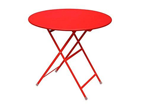 Arc en Ciel Table pliante ronde Emu cm. 80 Article 346 Couleur Rouge Cod. 50
