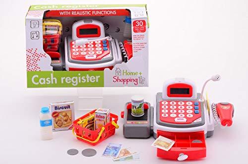 Smart Planet® Elektronische Kasse Registrierkasse Supermarktkasse mit Scanner, Waage, Mikrofon, Förderband zum Spielen - Supermarkt - Kaufladen
