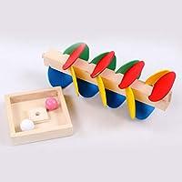 Sanzhileg Montessori Juguete Educativo Árbol de Madera Bola de Mármol Juego de Atletismo Bebé Niños Niños Inteligencia Juguete Educativo