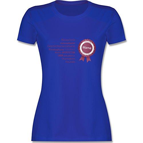 Shirtracer Muttertag - Beste Mama - Damen T-Shirt Rundhals Royalblau