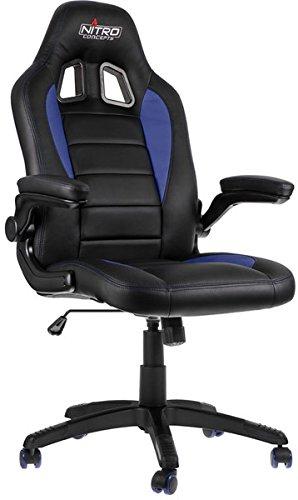 NITRO CONCEPTS C80 Motion Gamingstuhl/Bürostuhl / Schreibtischstuhl, schwarz/blau, 124x54x50 cm