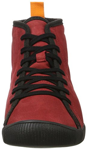 Softinos Damen Izi399sof Smooth Hohe Sneaker Rot (Red)