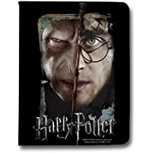 Leather flip Case carcasa iPad Air 2 WB License harry potter A - hollows vs