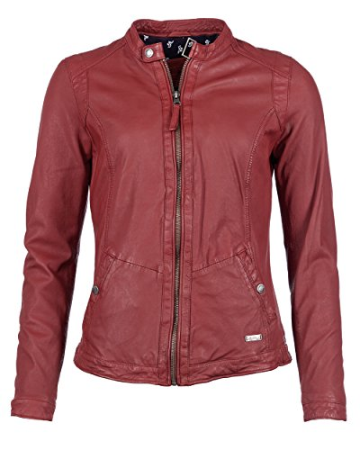 f71a2755567e Mustang Leather Joana, Chaqueta para Mujer, Rot (Red 2000), 38