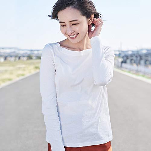 DXYXHLK Frauen Frühling Kleidung Baumwolle Einfarbig EIN Wort Kragen Mit Langen Ärmeln Frauen T-Shirt S Perle Whitec - Perlen Lange Ärmel T-shirt
