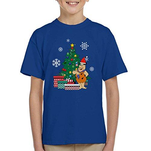 Fred Flintstone Around The Christmas Tree Kid's T-Shirt (Flintstones Bowling)