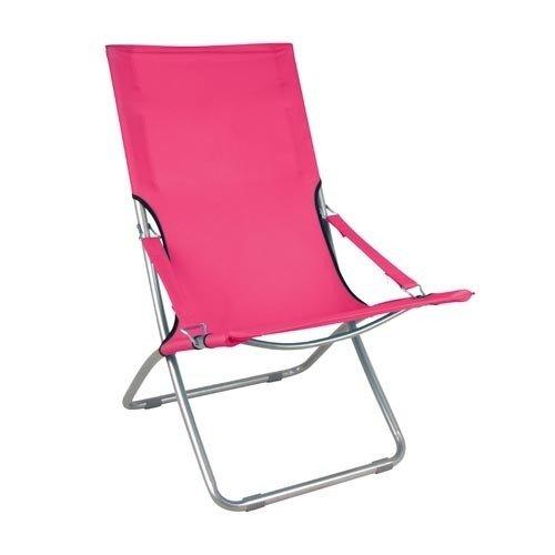 Strandsessel Strandlounger 3 Farben, Farbe:pink