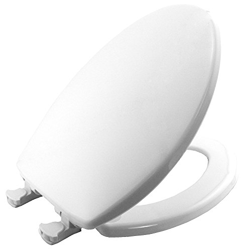 Bemis 180EC 000 Plastic Easy-Clean Elongated Toilet Seat, White