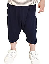 Scothen Bebé Cargoshort de corte alto bebé unisex harem ropa alternativa pantalones cortos de niño Aladdin cortos mezclilla harén bebé,pantalones niños playa verano Activo bolsillo pantalones cortos