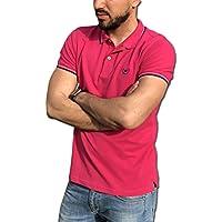 CONSENSO Polo Uomo T-Shirt Mezza Manica TG. M, L, XL, XXL, XXXL - Colori Assortiti (XXL, Fucsia)