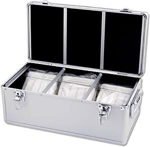 platinet boite de rangement dj couleur aluminium pour 600 cd high tech. Black Bedroom Furniture Sets. Home Design Ideas