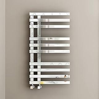 820 x 450 Designer Square Chrome Heated Towel Rail Bathroom Radiator - All Sizes RD800450