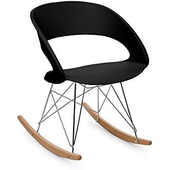 Oneconcept travolta sedia a dondolo retr design anni for Sedia design anni 70