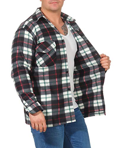 ZARMEXX Giacca Termica da Uomo Plaid Lumberjack Giacca da Lavoro Giacca di Flanella Controllata Calda e Morbida