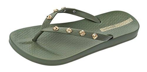 Ipanema Premium Love Knot Frauen Flip-Flops/Sandalen-Green-39 - Flip-flop-premium Collection