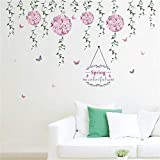 WALSTICKEL Wandtattoos Fliegende Blume Schmetterling Wandaufkleber Für Kinderzimmer Wandtattoo Schlafzimmer Sofa Dekoration Wandkunst
