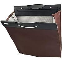 TODAYTOP Auto-Müllbeutel, zum Aufhängen, zusammenklappbar, Premium-Leder, magnetisch braun