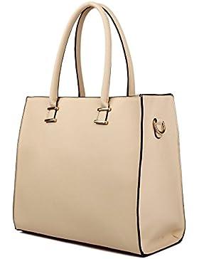 Damen Handtasche Damentasche Tragetasche Schultertasche aus K. Leder Groß