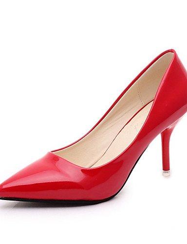 WSS 2016 chaussures pour femmes PU talon aiguille pointue talons parti&soirée noire / rose / rouge / blanc / argent silver-us5.5 / eu36 / uk3.5 / cn35