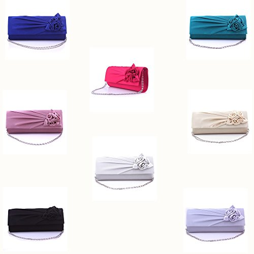 BAITER bella serata moda borsa di alta qualità pochette per feste e matrimoni Bianco - bianco