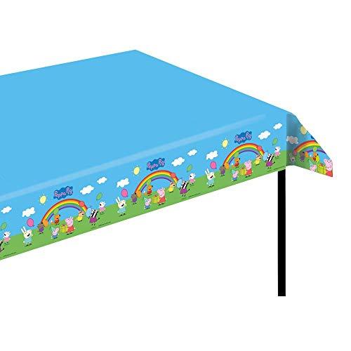 Peppa Pig Tischdecke | Tischtuch 120 x 180 cm | Peppa Wutz Kinder Geburtstag (Peppa Geburtstag Pig Thema)