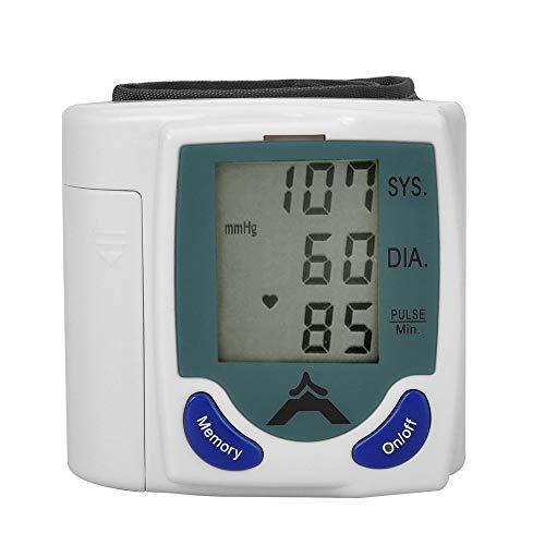 Monitor de presión arterial automático de muñeca Monitor clínico de presión arterial alta preciso y portátil para uso doméstico Monitor de presión arterial con pantalla LCD grande (90 memorias)
