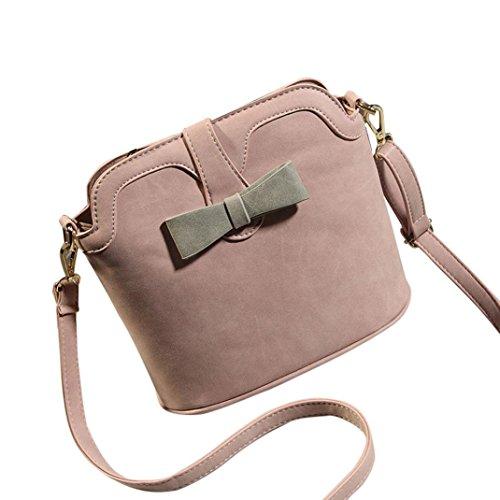 Transer Women Shoulder Bag Popular Girls Hand Bag Ladies Leather Handbag, Borsa a spalla donna Pink 23cm(L)*22(H)*12cm(W) Pink