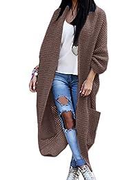 0dae7b403c0d80 Damen Strickjacke Pullover Pulli Jacke Oversize Boho Frühling Cardigan Lose  Oberteil Damen Lang Mantel Jacke Cardigan