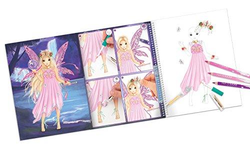 Depesche 8549 - Malbuch Create your Fantasy Model mit Stickern - 2