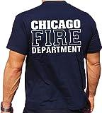 feuer1Maglietta Scritta Chicago Fire Dept, Blu Navy, L