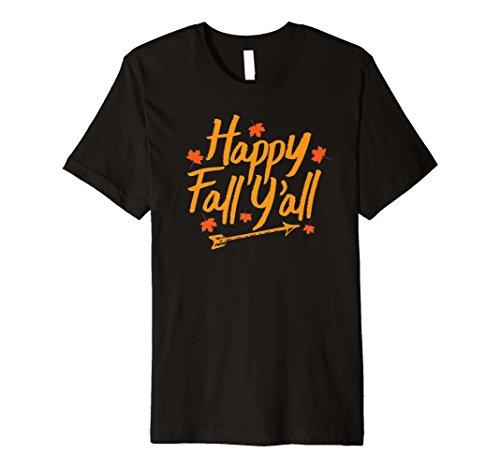 Happy Fall Motiv Faultier Shirt Herbst Thanksgiving Halloween Tee