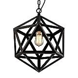 NIUYAO Kronleuchter Industrie Retro Metall Hexagramm Hänge Pendelleuchten Innenbeleuchtung Loft Stil-Schwarze