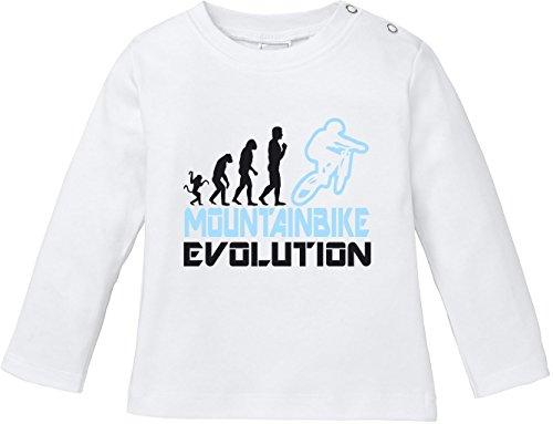EZYshirt Mountainbike Evolution Baby T-Shirt Longsleeve