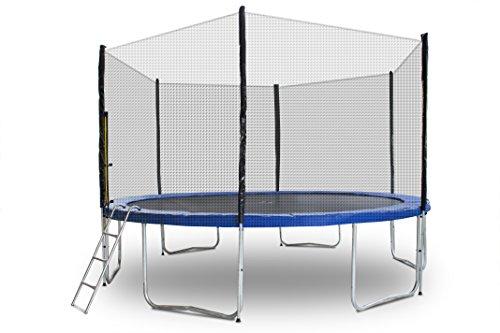 ms-point Gartentrampoline Trampoline Outdoor-Trampoline Fitness-Trampoline 430cm, inkl. Sicherheitsnetz, Leiter und Randabdeckung