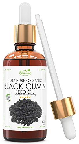 Schwarzkümmelöl bestes 100% Reines Bio Kaltgepresst 50ml – natürliche Anti-Aging Creme für Männer & Frauen – Professionelle Entfernung von Akne-Narben, pflegt & mindert dunkle Hautverunreinigungen