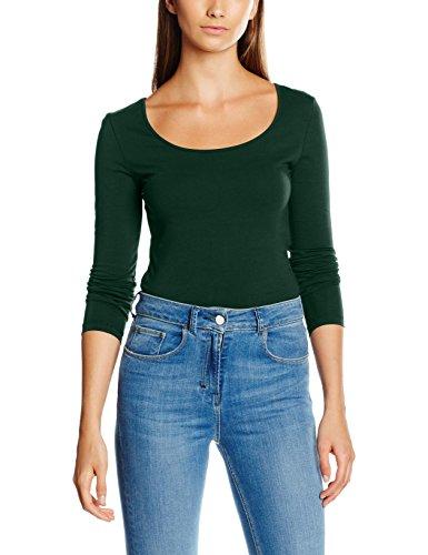 VERO MODA Damen Langarmshirt Vmmaxi MY LS Soft Long U-Neck Noos Grün (Pine Grove), 38 (Herstellergröße: M)
