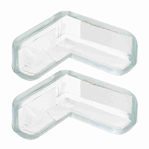 TOOGOO (R) Protector de Esquina de Estanteria Armario para Ninos Bebes Silicona Suave Seguro x 2