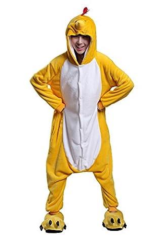 Honeystore Unisex Erwachsene Tier Kostüme Cosplay Pajama Huhn Siamesische Kleidung Nachtwäsche M (Gute Halloween-kostüme Für Gruppe 3)