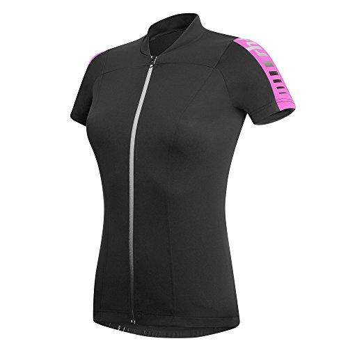 zero rh++ Damen Fahrradtriko Spirit W Jersey FZ, Black/Pink, S, ECD0256956S