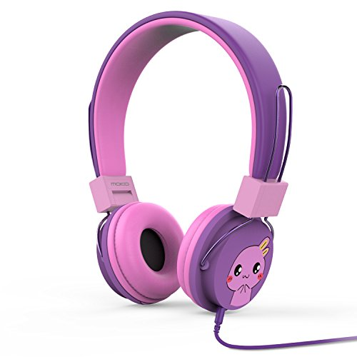 Kinder Ipod Für Ohrhörer (MoKo Kinder Kopfhörer - 1.5m On-Ear-Kopfhörer Music Gaming Wired Leicht Kopfhörer Headset Headphone mit Lautstärkenregler für IOS / Android Smartphones, Tablets, Computer, MP3 / 4 Players, Violett)