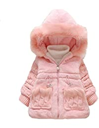 43b8b4b90 Kingko® 0~24 Months Baby Girls Winter Warm Coat Kids Outwear Clothes  Zippered Hoodie