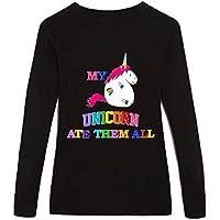 Mi unicornio comió todos ellos–para mujer sábana bajera algodón Top, color LONG-SLEEVE, tamaño XXL