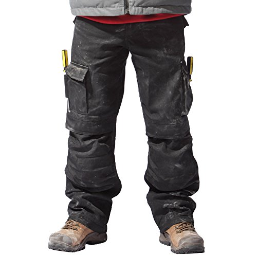 CAT Caterpillar Mens C172 Trademark Workwear Holster Cargo Trousers Black