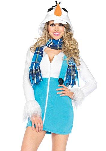 Winter Leg Kostüm Avenue - Leg Avenue 85524 - Cozy Snowman Kostüm, Größe XS  (EUR 32-34)