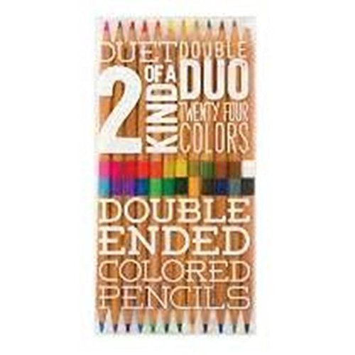 ls Two of a Kind Double Ended Colored Pencils, Set of 12 (128-103) by International Arrivals ()